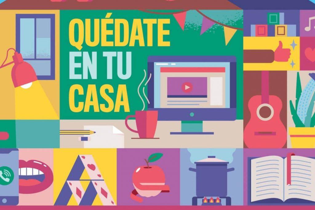 Cartel Quédate en tu casa Fest - Canciones en tiempos de cuarentena - Mallorca Music Magazine