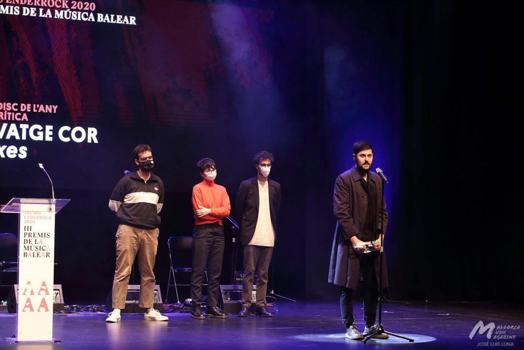 Gala III Premis Enderrock de la Música Balear 2020 - Salvatge Cor (Mejor disco del año: Bruixes) - Mallorca Music Magazine
