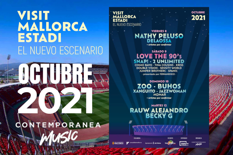 Visit Mallorca Estadi - El Nuevo Escenario (cartel) - Mallorca Music Magazine
